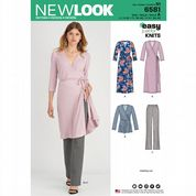 6581 New Look Pattern: Misses' Pull on Trousers and Cross-front Wrap